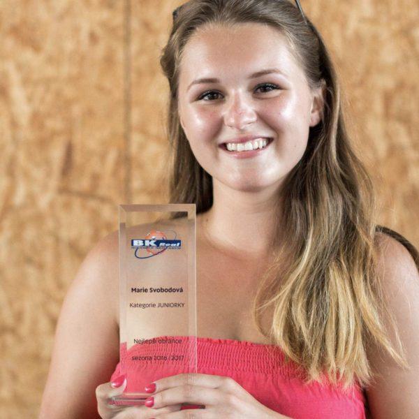 Nejlepší obránce v kategorii juniorek – Marie Svobodová