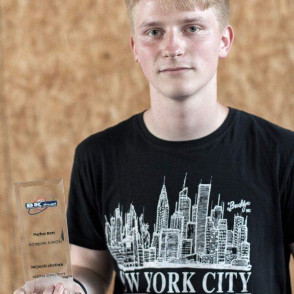 Nelepší obránce v kategorii juniorů – Michal Rott